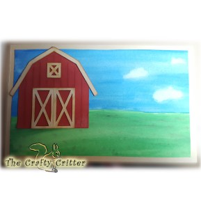 The Barn on the Background