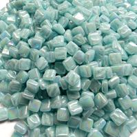 8mm Square Tiles - Powder Blue Pearlised - 50g