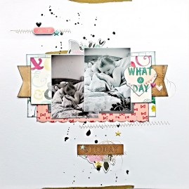 Sarah King: Scraplifted from a layout by Marinette Lesne.