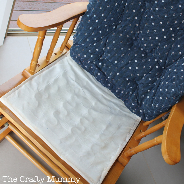 cushions for glider chairs indoor hammock how to cover a chair cushion the crafty mummy