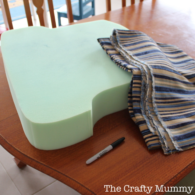 foam rubber sofa replacement seat cushion reupholster recliner diy how to cover a chair • the crafty mummy
