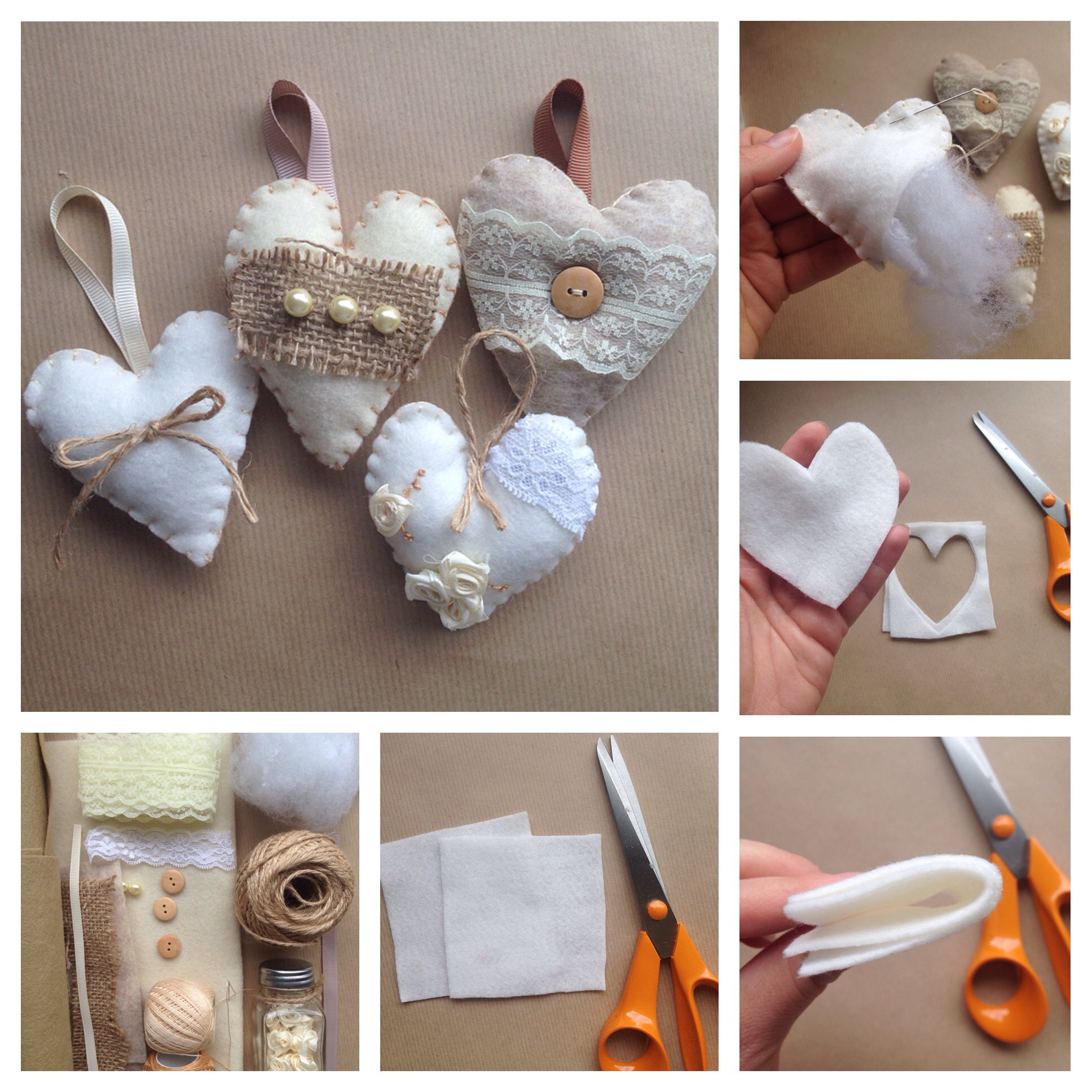 Continue to 6 of 12 below. Diy Shabby Chic Padded Hearts The Crafty Mummy