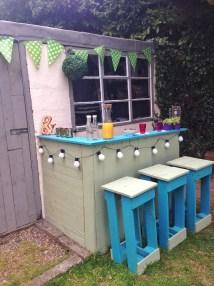 Diy Pallets Garden Bar Crafty Mummy