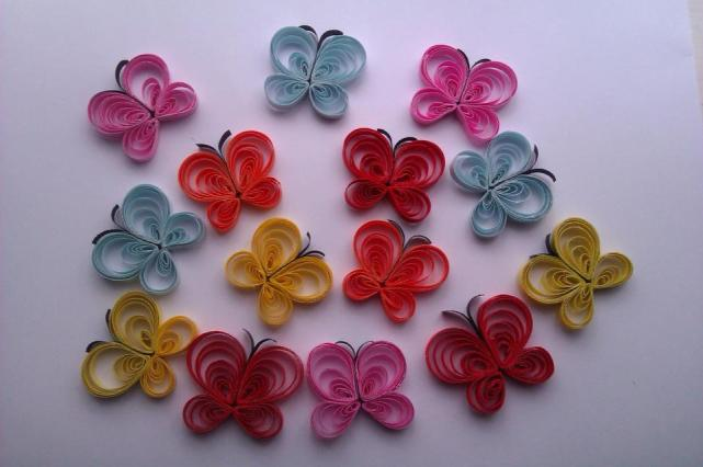 4. Quilled Creations by me butterflies