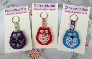 Chris Made this owl keyrings