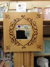 Heavenly Handmade wood mirror