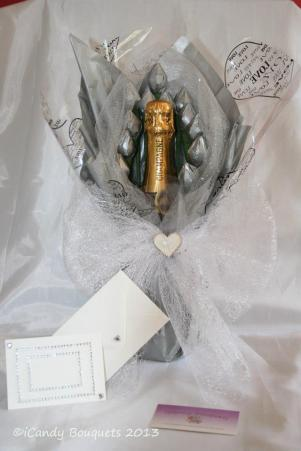 ICandy Bouquets Sparkling in silver
