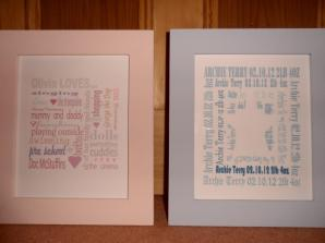 Sugar and Spice baby keepsake pictures