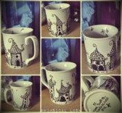 Whimsical Lush designed mugs