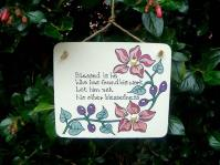 6. Cobweb Creations plaque