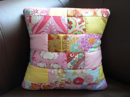 9. The Birling Bobbin quilted cushion