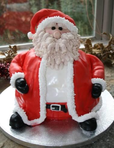 7. Cake Ali Father christmas cake