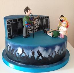 7. Cake Ali Father theme cake