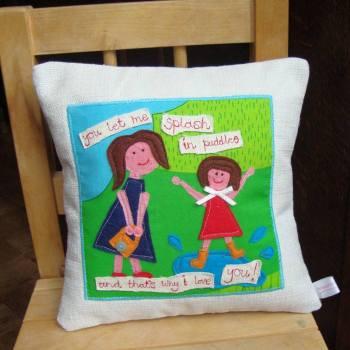 7. Thread Friends cushion