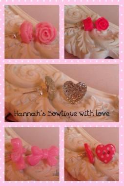 1. Hannah's Bowtique with Love earrings
