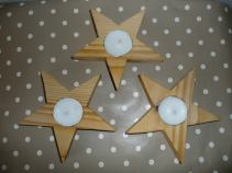 6. Sallys Home Made crafts candle holders