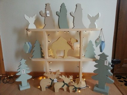 6. Sallys Home Made crafts wooden christmas decorations