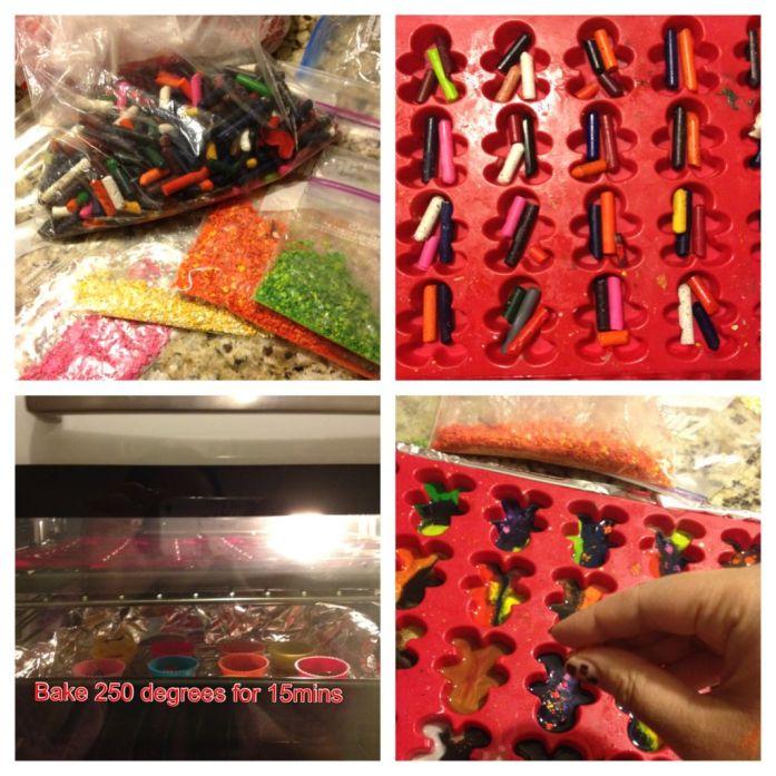 diy handmade rainbow crayons