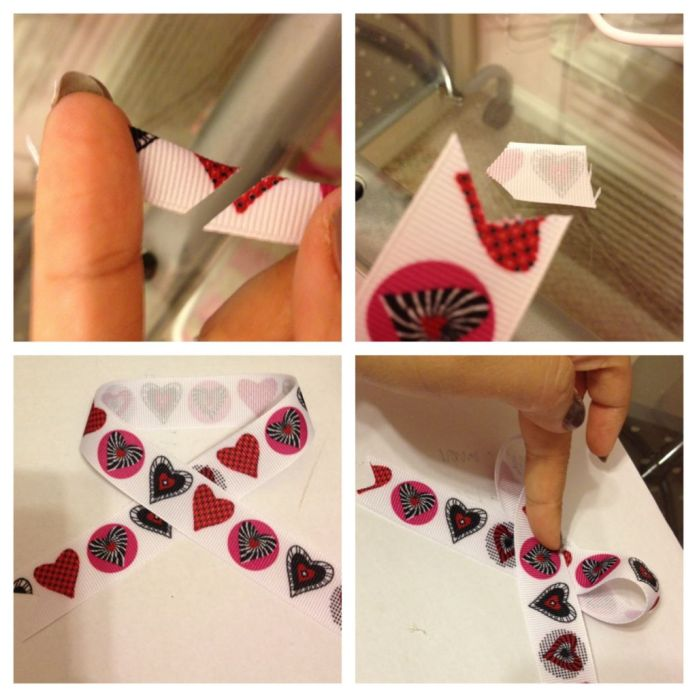 Hearts Zebra Hair Bow DIY