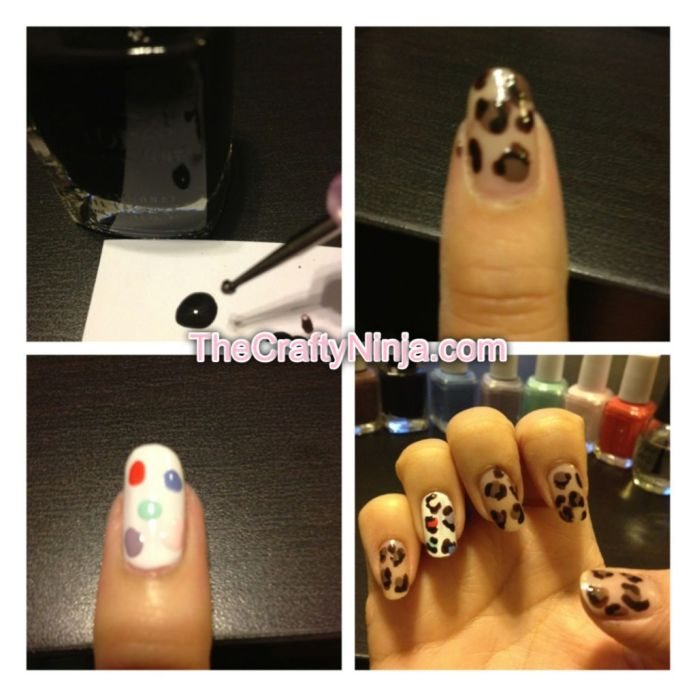 leopard nail art step 2