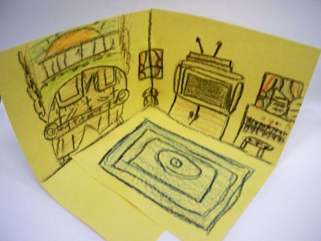 van gogh bedroom art lesson 2