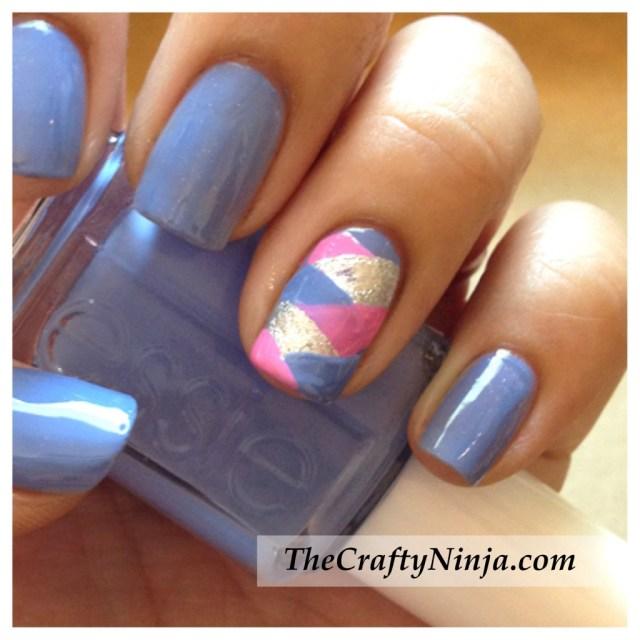 fishtail braid nails