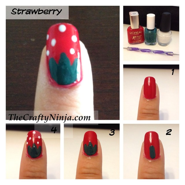 strawberry nail tutorial