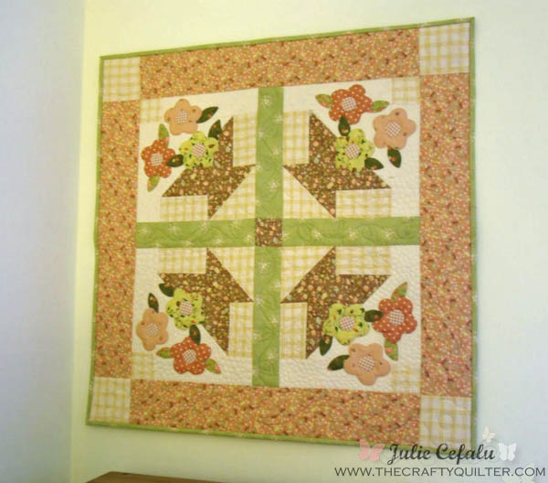 Quick Trick For Hanging A Small Quilt The Crafty Quilter