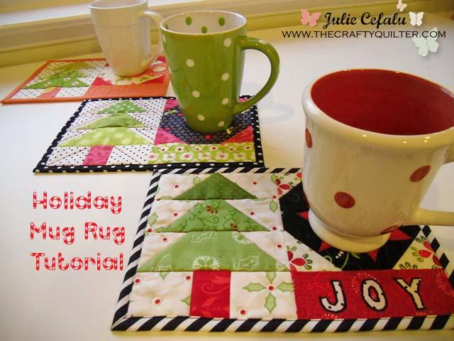 Holiday Mug Rug Tutorial @ The Crafty Quilter