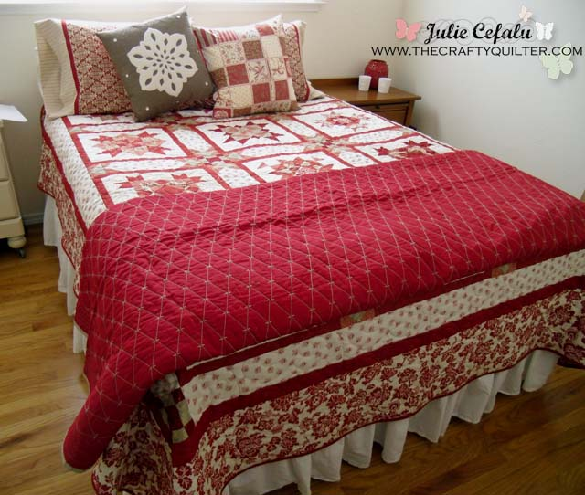 Pillow and quilt at The Crafty Quilter