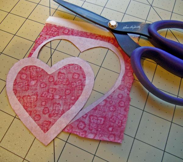 Love heart cut on line