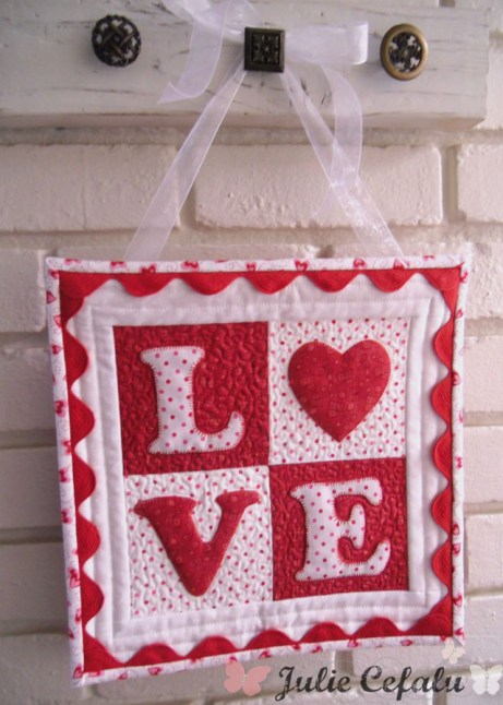 LOVE letters mini quilt at The Crafty Quilter
