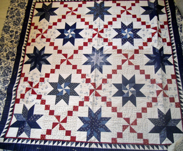 Red, white and blue stars at The Crafty Quilter