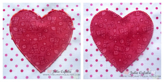 Applique Hearts at The Crafty Quilter