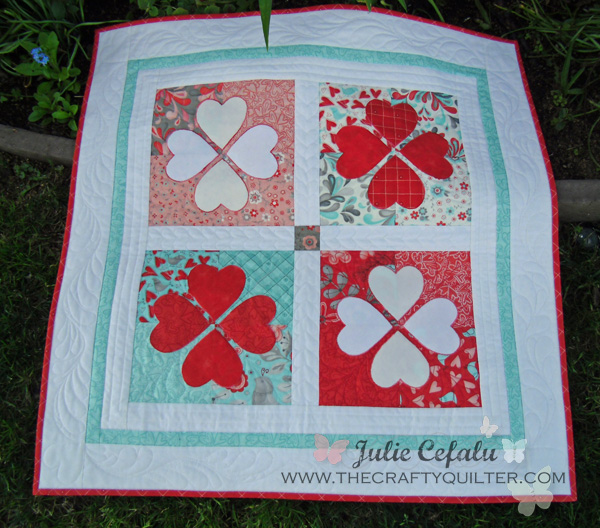 Flirtatious Hearts by Julie Cefalu of The Crafty Quilter
