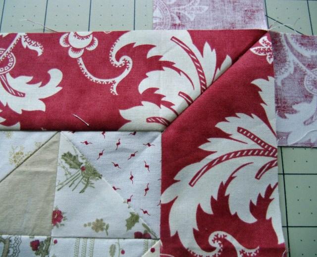 joy border sewn before press
