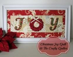 Christmas Joy Framed Quilt Tutorial