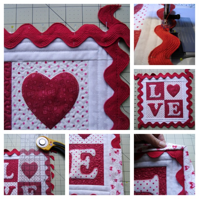 How to add ric rak to your quilt edges @ The Crafty Quilter