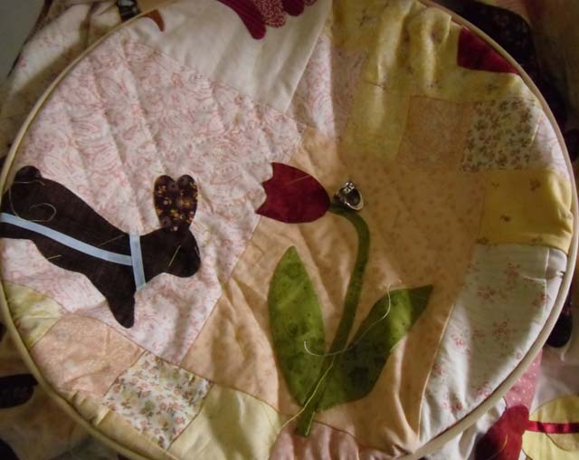 Bunny hand quilting
