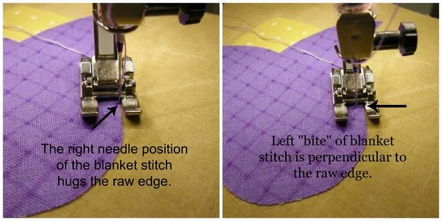 blanket stitch collage