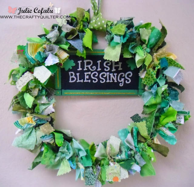 irish blessings wreath @ The Crafty  Quilter