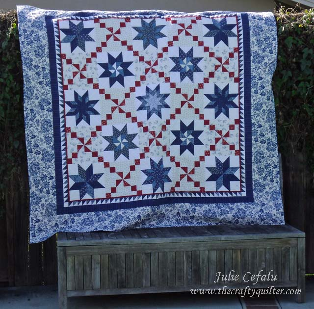 Oh my many stars quilt made by Julie Cefalu