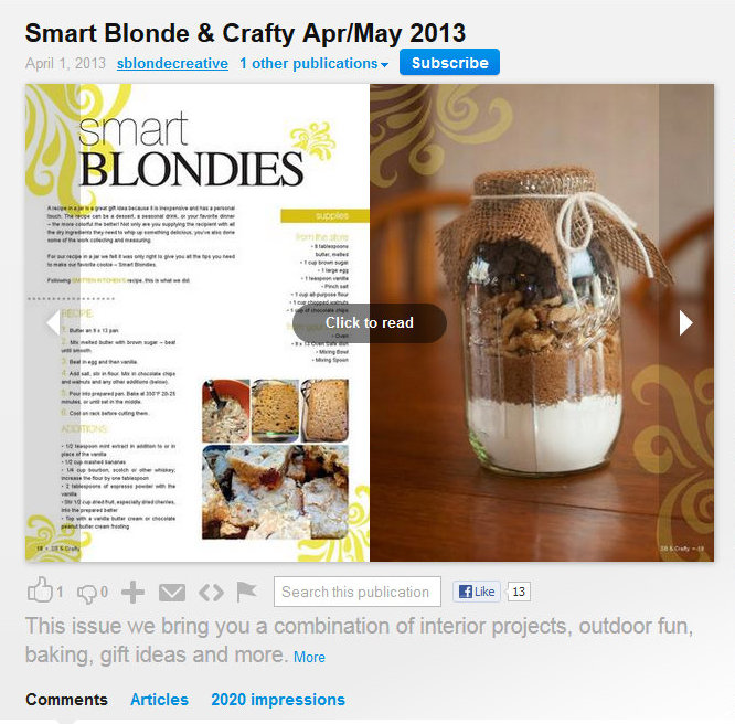ISSUU smart blond & crafty cropped