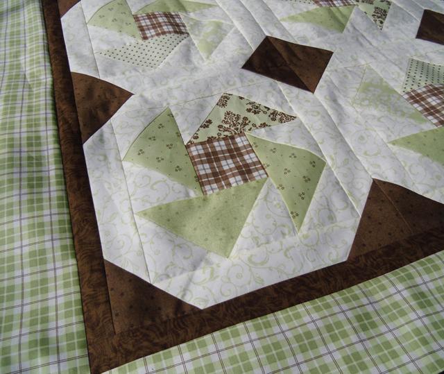 baby quilt top corner