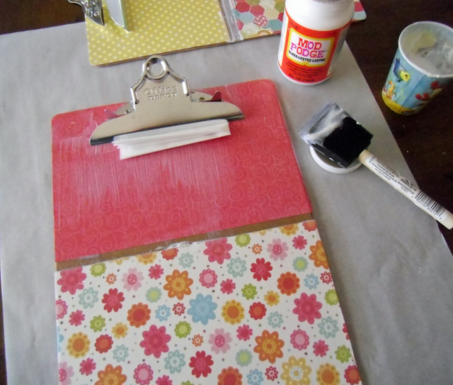 clipboard supplies and gluing