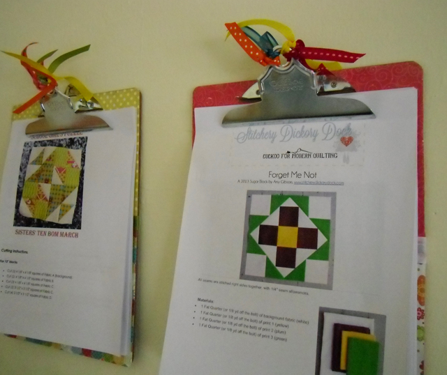Clipboard Organization @ The Crafty Quilter