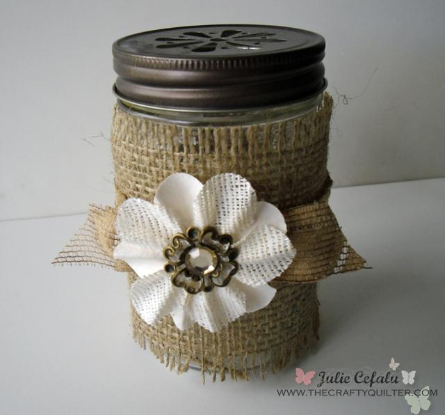 mason jar burlap flower plus copy