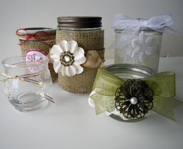mason jars all together