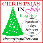 Christmas in July button 150