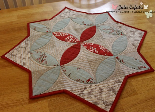 Winter Seeds Table Topper @ The Crafty Quilter